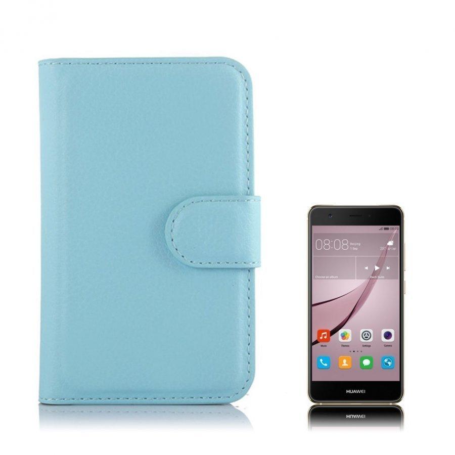 Mankell Alcatel One Touch Pixi 3 3.5 Nahkakotelo Läpällä Vaaleansininen