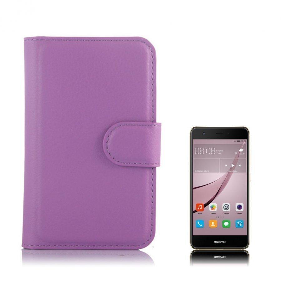 Mankell Alcatel One Touch Pixi 3 3.5 Nahkakotelo Läpällä Violetti