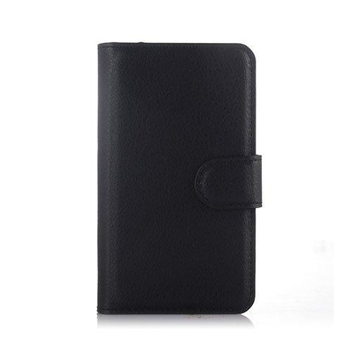 Mankell Alcatel One Touch Pixi 3 Nahkakotelo Lompakko Musta
