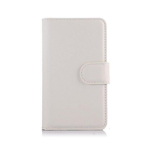 Mankell Alcatel One Touch Pixi 3 Nahkakotelo Lompakko Valkoinen