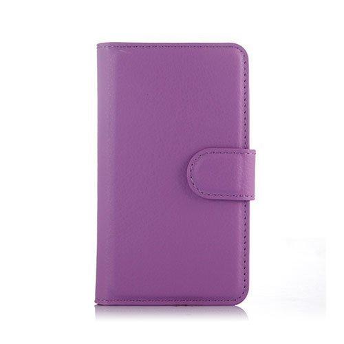 Mankell Alcatel One Touch Pixi 3 Nahkakotelo Lompakko Violetti