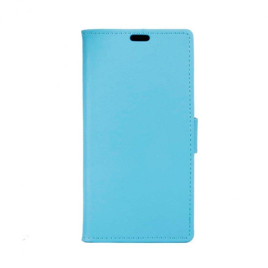 Mankell Alcatel X1 Nahkakotelo Korttitaskuilla Ja Läpällä Sininen