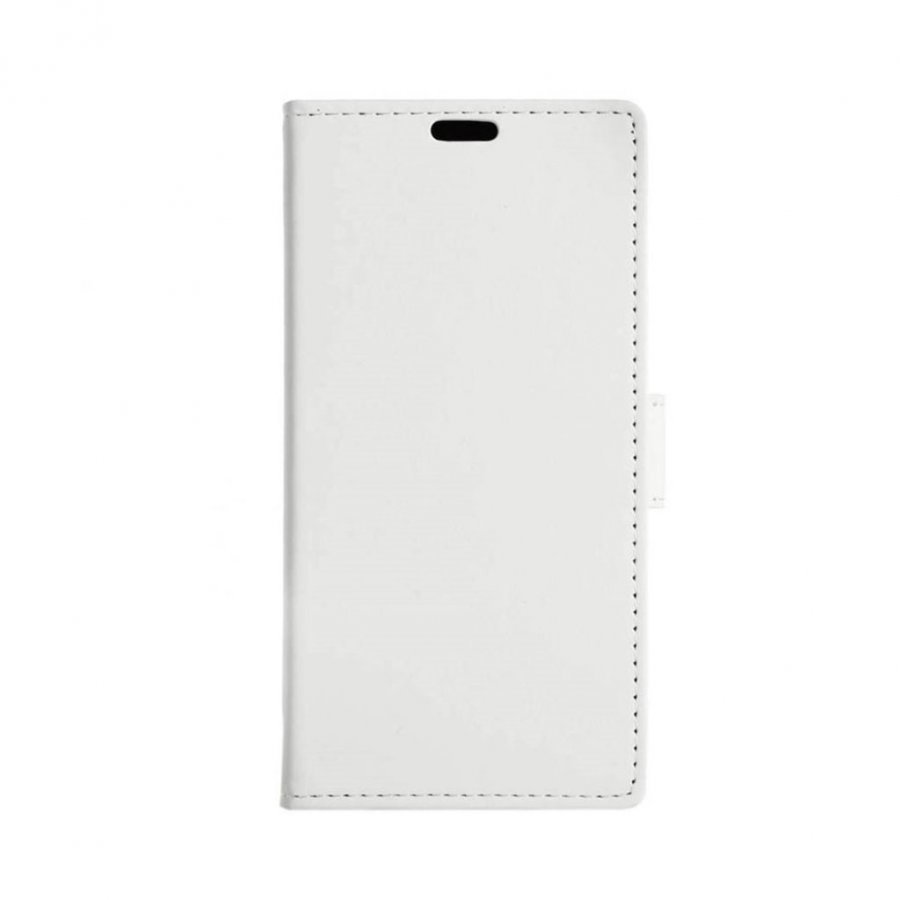 Mankell Alcatel X1 Nahkakotelo Korttitaskuilla Ja Läpällä Valkoinen