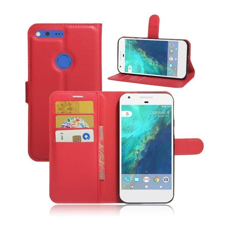Mankell Google Pixel Xl Nahkakotelo Magneettisella Läpällä Punainen