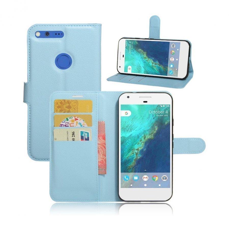 Mankell Google Pixel Xl Nahkakotelo Magneettisella Läpällä Sininen