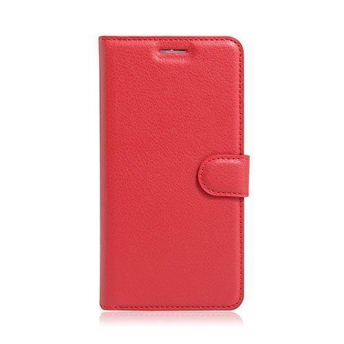 Mankell Motorola Moto G4 / G4 Plus Suojaava Nahkakotelo Läpällä Punainen