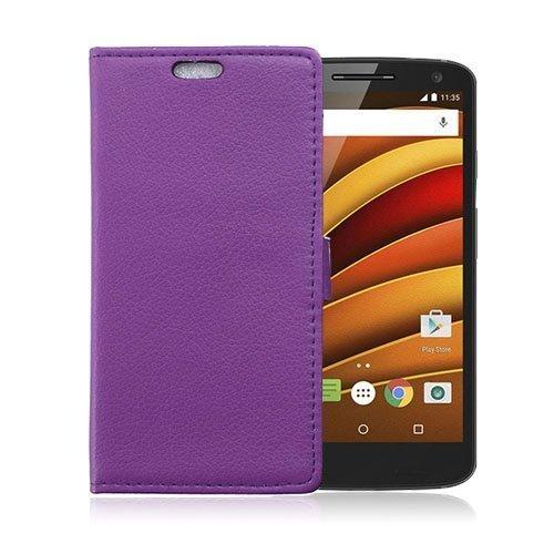 Mankell Motorola Moto X Force Nahkakotelo Lompakko Standillä Violetti