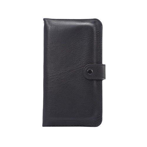 Mankell Norsunnahka Pintainen Kaksois-Kerroksinen Nahkakotelo Huawei Mate 8 Puhelimelle Musta