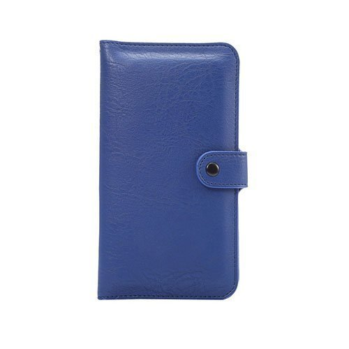 Mankell Norsunnahka Pintainen Kaksois-Kerroksinen Nahkakotelo Huawei Mate 8 Puhelimelle Sininen