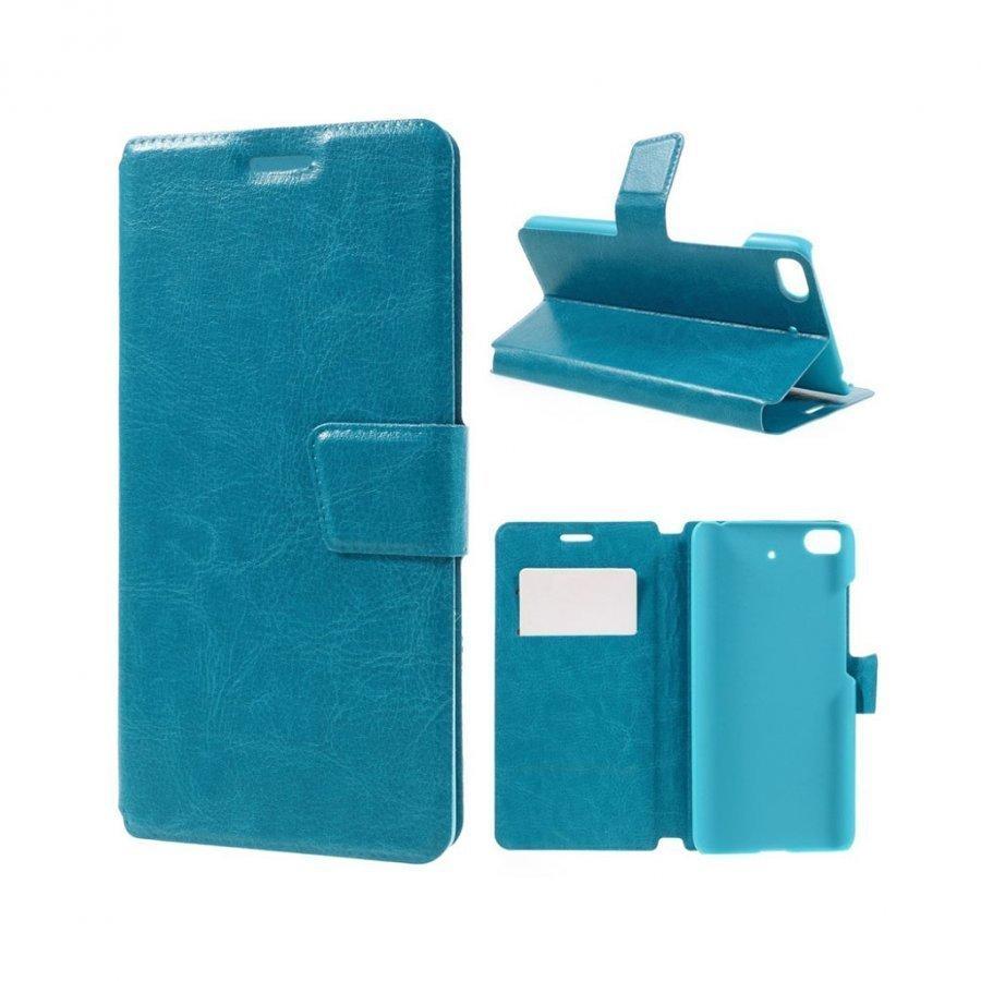 Mankell Xiaomi Mi 5s Nahkakotelo Läpällä Ja Standillä Sininen