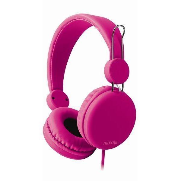 Maxell Spectrum Headphone headset 1 2m litteä kaapeli vaal.pun