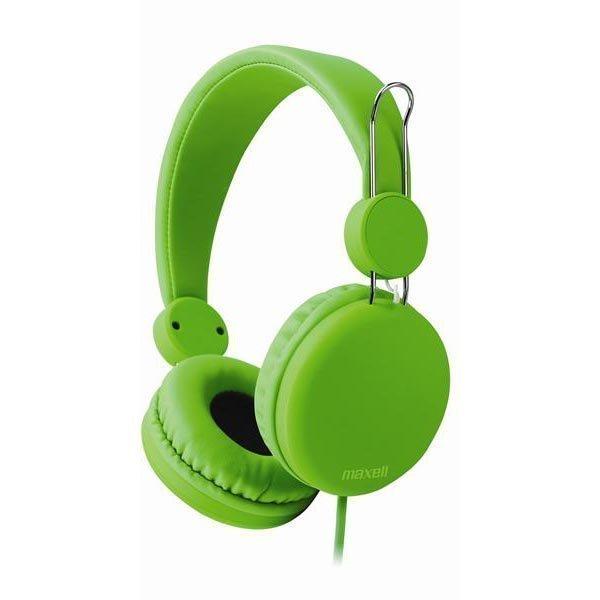 Maxell Spectrum Headphone headset 1 2m litteä kaapeli vihreä