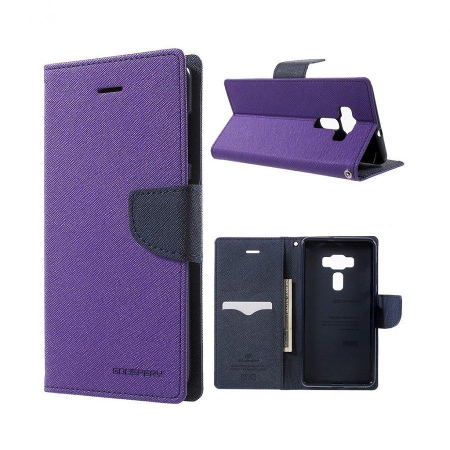 Mercury Goospery Asus Zenfone 3 Deluxe Zs570kl Nahkakotelo Violetti