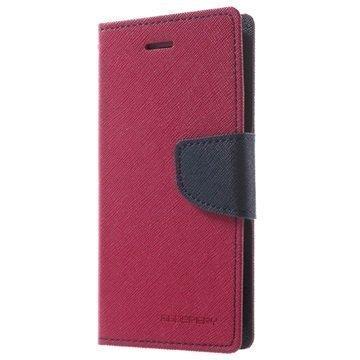 Mercury Goospery Fancy Diary lompakkokotelo iPhone 7 Pinkki / Tummansininen