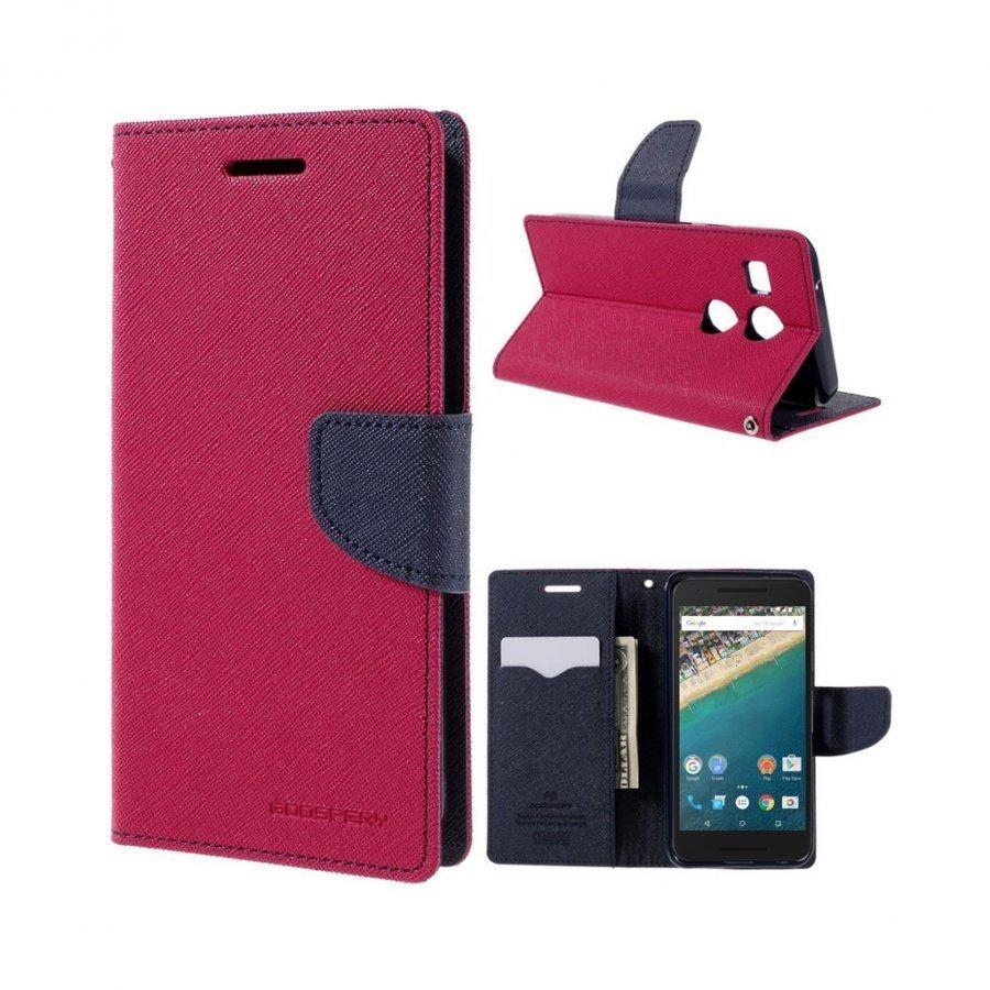 Mercury Goospery Google Nexus 5x Hieno Nahkakotelo Kuuma Pinkki