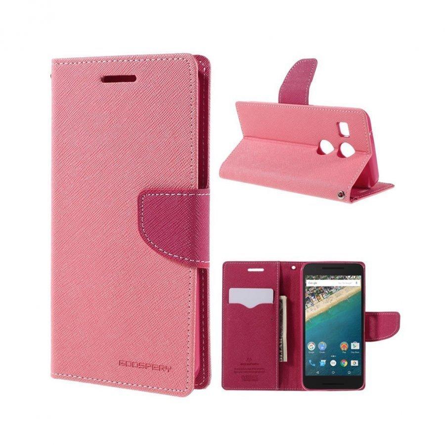 Mercury Goospery Google Nexus 5x Hieno Nahkakotelo Pinkki