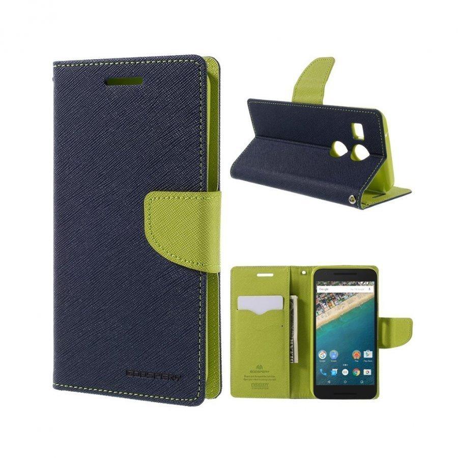 Mercury Goospery Google Nexus 5x Hieno Nahkakotelo Sininen