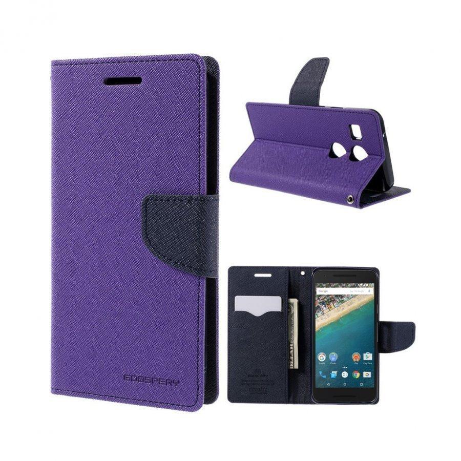 Mercury Goospery Google Nexus 5x Hieno Nahkakotelo Violetti