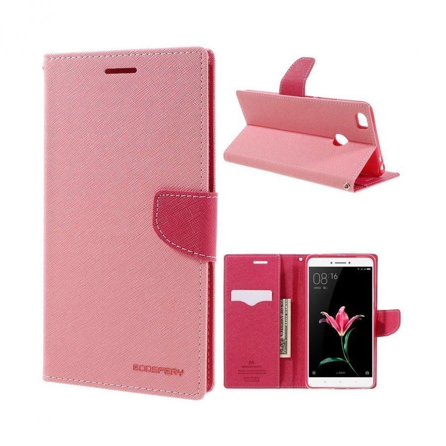 Mercury Goospery Xiaomi Mi Max Nahkakotelo Läpällä Pinkki