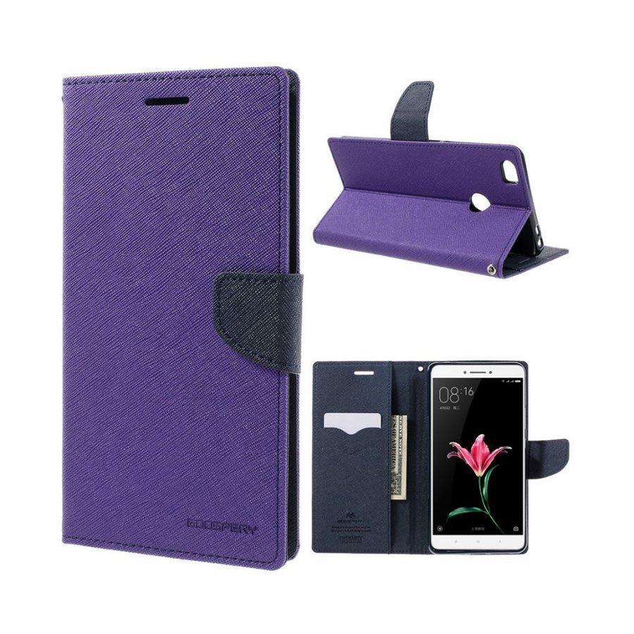 Mercury Goospery Xiaomi Mi Max Nahkakotelo Läpällä Violetti
