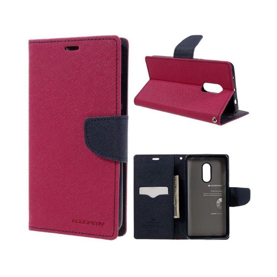 Mercury Goospery Xiaomi Redmi Note 4 Nahkakotelo Läpällä Kuuma Pinkki