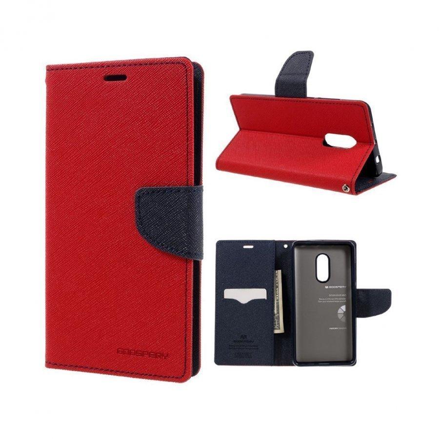 Mercury Goospery Xiaomi Redmi Note 4 Nahkakotelo Läpällä Punainen