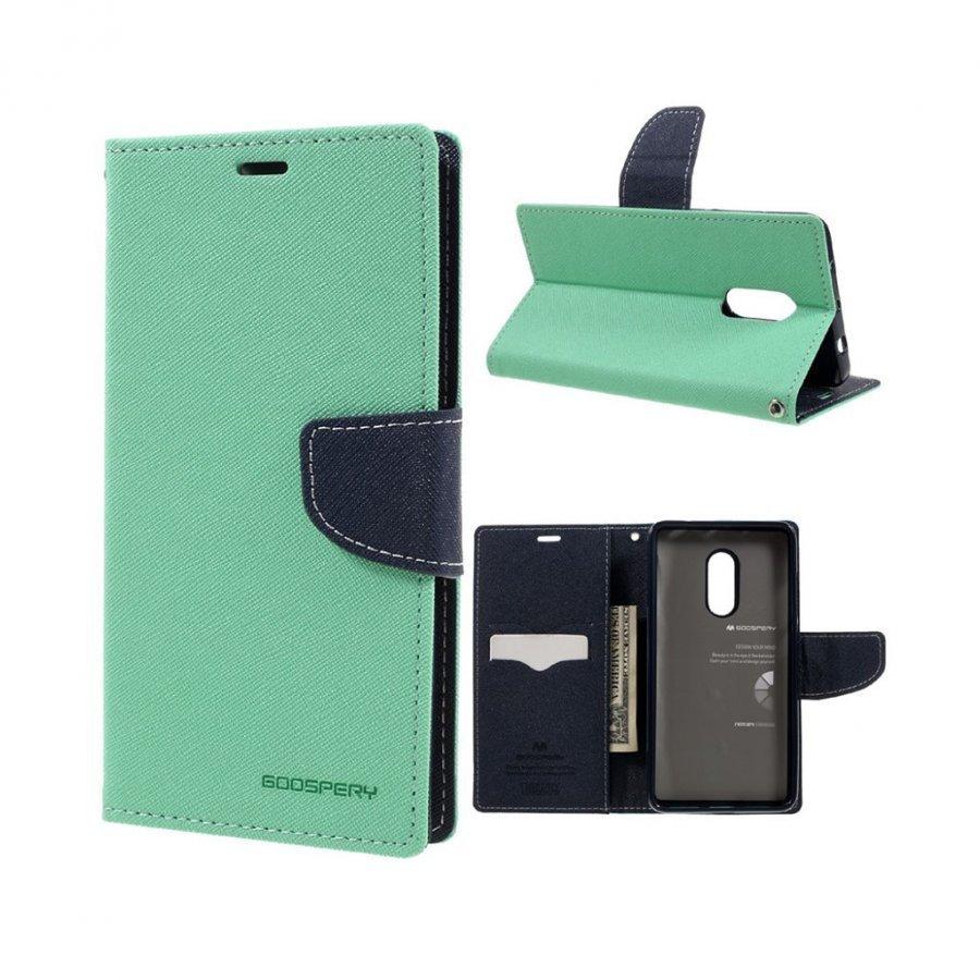 Mercury Goospery Xiaomi Redmi Note 4 Nahkakotelo Läpällä Syaani