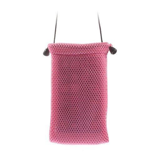 Mesh Kangas Pinkki Älypuhelinpussi 14.5 X 10cm