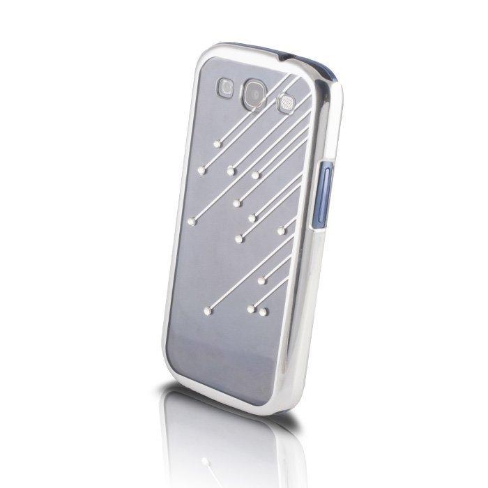 Meteor Bling Case suojakotelo Samsung Galaxy S3 i9300 läpinäkyvä-hopea