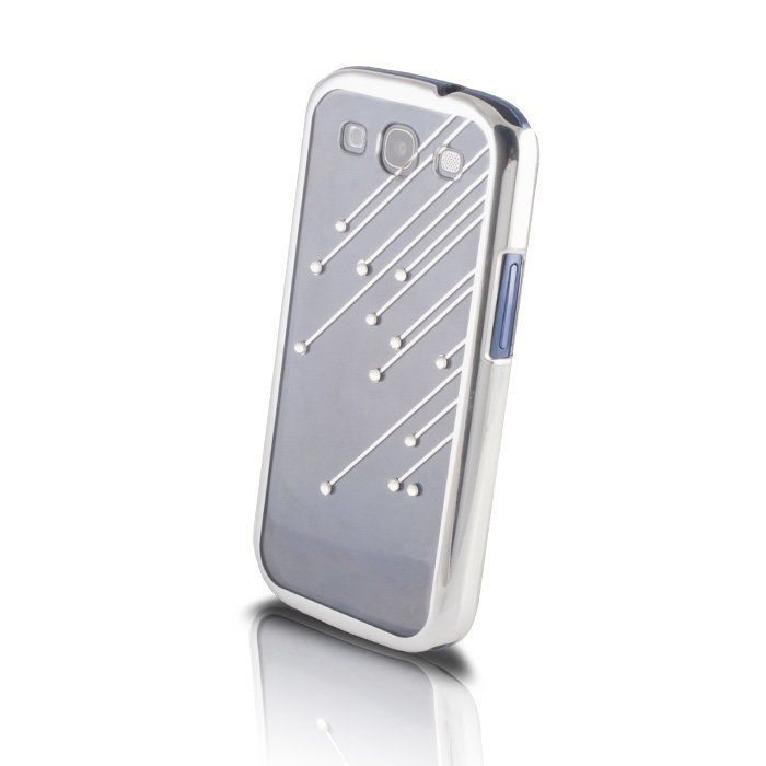 Meteor Bling Case suojakotelo Samsung Galaxy S4 i9500 läpinäkyvä-hopea