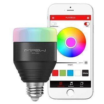 MiPow Playbulb Smart LED-valo iOS Android Musta