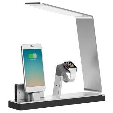 MiTagg NuDock Lamppu Lataustelakka Apple Watch iPhone Hopea