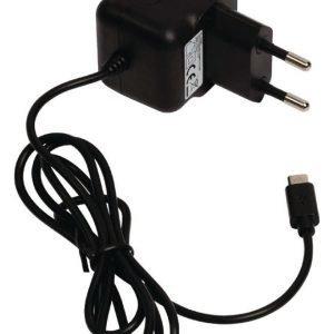 Micro USB -vaihtovirtalaturi Micro USB uros vaihtovirtaliitäntä 1 00 m musta 2.1A