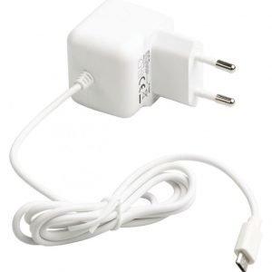 Micro USB -vaihtovirtalaturi Micro USB uros vaihtovirtaliitäntä 1 00 m valkoinen 2.1A