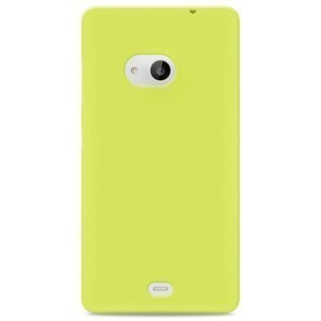Microsoft Lumia 535 535 Dual SIM Puro 0.3 Ultra Slim Silikonikotelo Limenvihreä