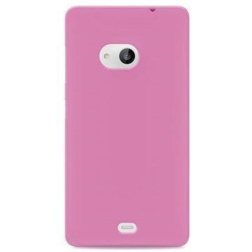 Microsoft Lumia 535 535 Dual SIM Puro 0.3 Ultra Slim Silikonikotelo Pinkki