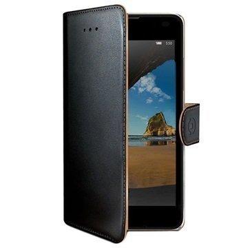Microsoft Lumia 550 Celly Wally Lompakkokotelo Musta