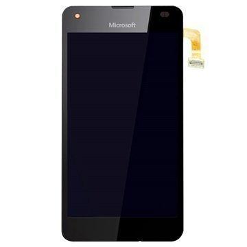 Microsoft Lumia 550 Etukuori & LCD Näyttö Musta