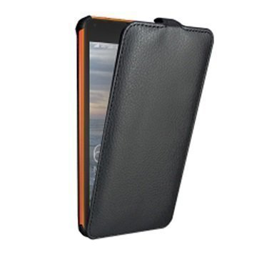 Microsoft Lumia 640 XL Dual SIM Star-Case Roma Pystysuora Läppäkotelo Musta