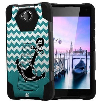 Microsoft Lumia 650 Beyond Cell Hyber V2 Shell Case Anchor / Chevron