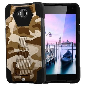 Microsoft Lumia 650 Beyond Cell Hyber V2 Shell Case Desert Camouflage