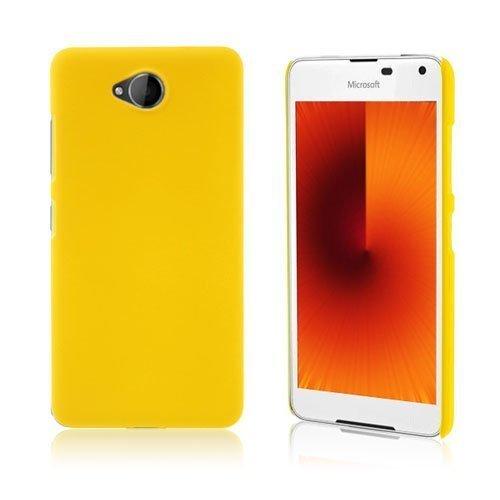 Microsoft Lumia 650 Kumi Päällystetty Kova Pc Muovikuori Keltainen