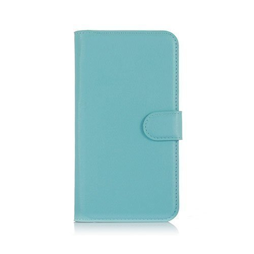 Microsoft Lumia 650 Litsi Pintainen Nahkakotelo Lompakko Sininen