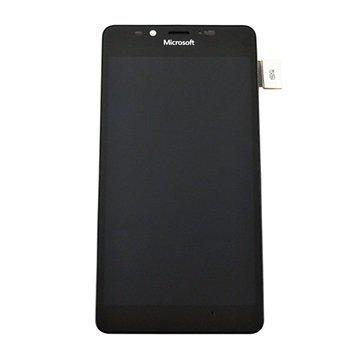 Microsoft Lumia 950 Dual SIM Etukuori & LCD Näyttö Musta