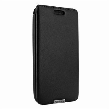 Microsoft Lumia 950 Piel Frama iMagnum Nahkakotelo Musta