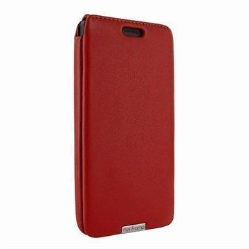 Microsoft Lumia 950 Piel Frama iMagnum Nahkakotelo Punainen