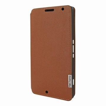 Microsoft Lumia 950 XL Piel Frama FramaSlim Nahkakotelo Kellanruskea