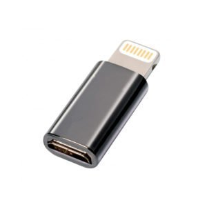 Microusb Apple Lightning Adapteri Musta