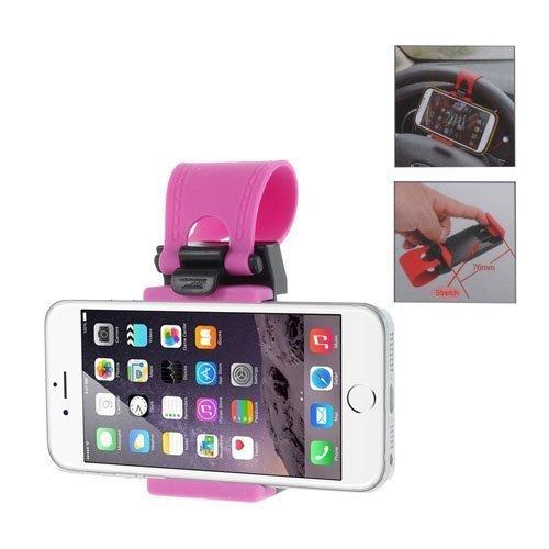 Mini Sisäänvedettävä Rattiin Kiinnitettävä Autoteline Älypuhelimille