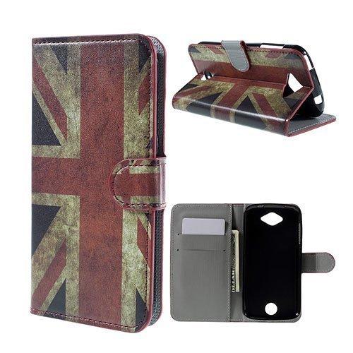 Moberg Acer Liquid Z530 Nahkakotelo Korttitaskuilla Vanhanaikainen Britannian Lippu